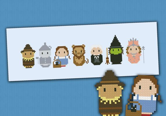 The Wizard of Oz parody Cross stitch PDF pattern por cloudsfactory