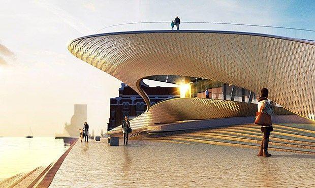 Museu de Arte Arquitetura e Tecnologia é inaugurado em Lisboa | Via Casa Vogue Brasil | 6/10/2016 Às margens do rio Tejo, o novo edifício de 3 mil m² desenhado pelo escritório londrino Amanda Levete se conecta com a antiga estação termoelétrica Central Tejo e encanta pelo visual fluido e brilhante. #Portugal