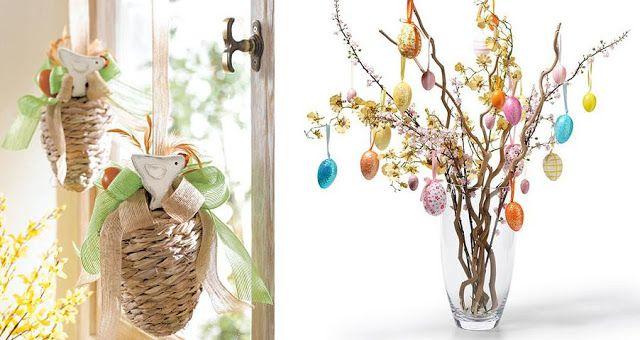 Decoração para páscoa. Árvore com ovinhos.