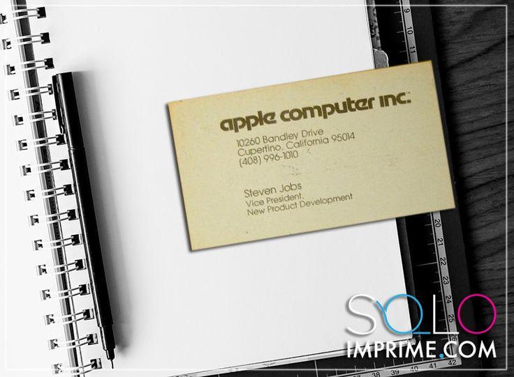 Tarjeta de Presentación, Originales, famosos, Business Card, Steve Jobs