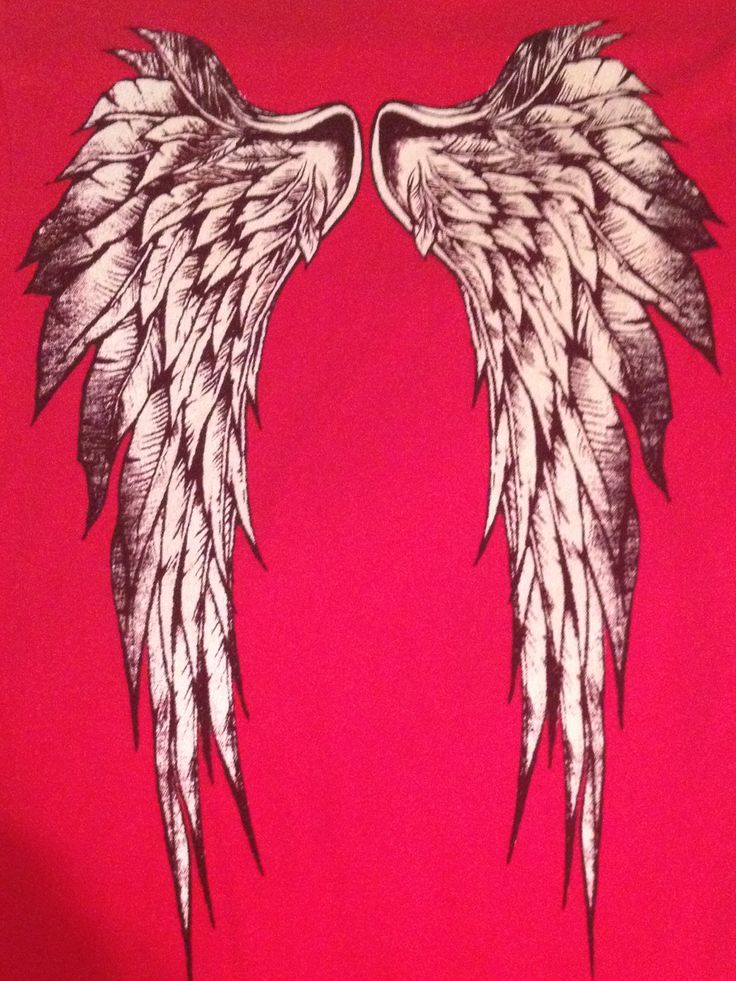 I think these wings would look nice as a back tattoo. Its on the back of one of my shirts.