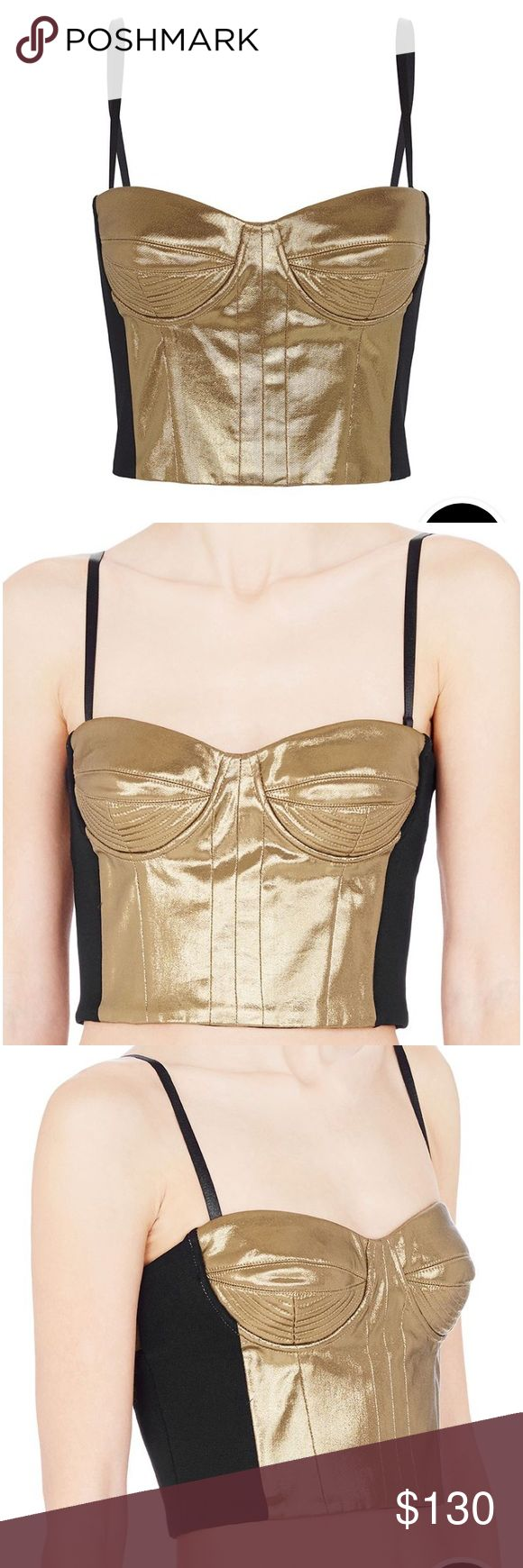 Sass & Bide Happy Up Here Gold Corset Size 6 and NWT sass & bide Tops Tank Tops