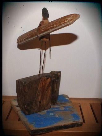 Statuette en bois flott d coration th me surfhttp www for Magasin deco bois flotte