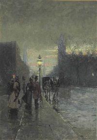 Rainy Streets, New York, 1914