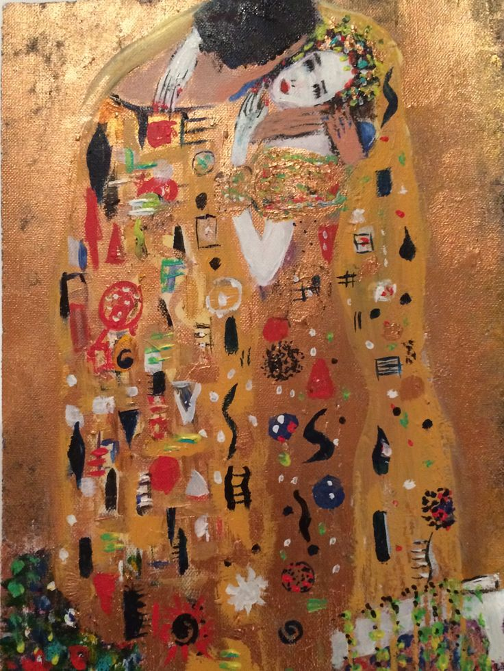 The Kiss 'After' Gustav Klimt By Anne