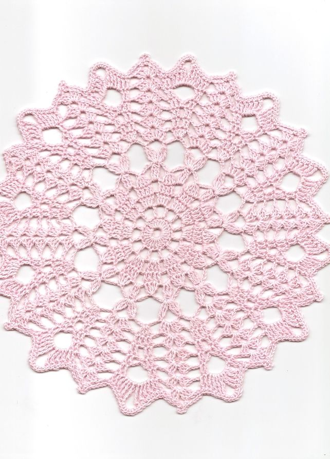 Crochet doily. This one for sale but, picture could be used to make one of your own.