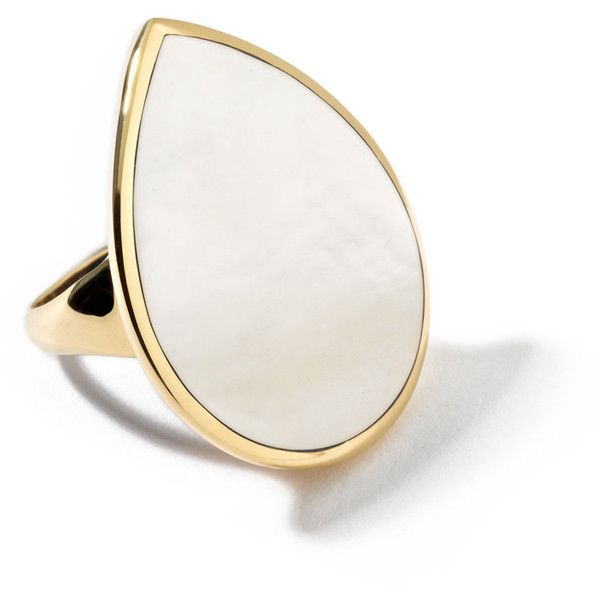 Ippolita 18k Teardrop Rock Candy Mother-of-Pearl Ring (16.005 HRK) ❤ liked on Polyvore featuring jewelry, rings, accessories, gold, ippolita, tear drop ring, mother of pearl ring, 18 karat gold ring and tear drop jewelry