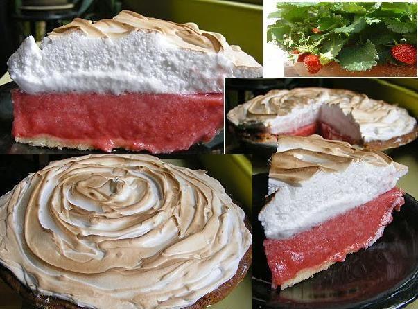 Tarte à la fraise meringuée 750g vous propose la recette Tarte meringuée aux fraises gariguette du jardin