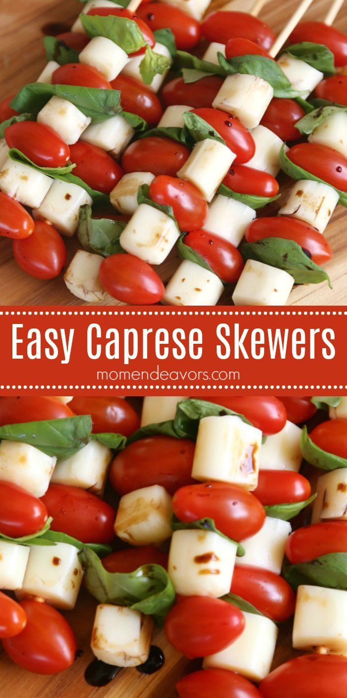 Easy Caprese Skewers – tasty & easy to make appetizer or snack, perfect for Moth…
