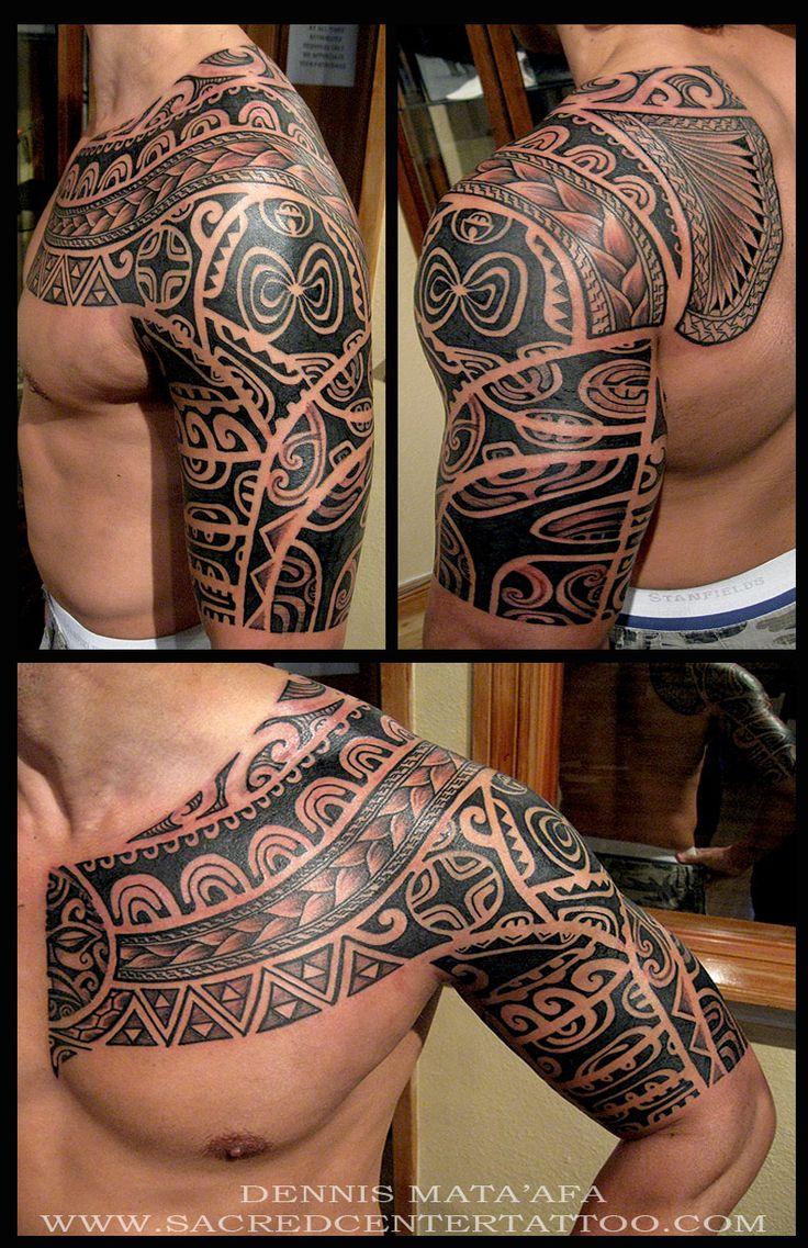 by Dennis at Sacred Center Tattoo #samoan #tattoo