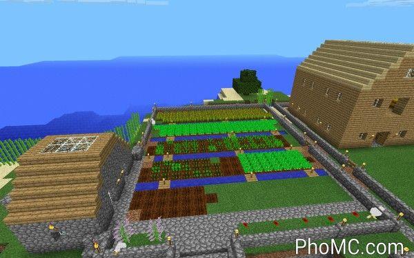 minecraft garden layout photo | minecraft agriculture | pinterest