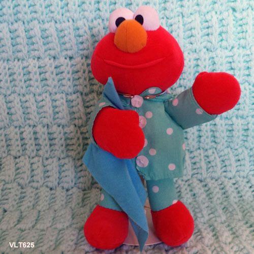 "Elmo Tyco 1999 talking sesame street elmo based on Where's my blanket book  - 9"""