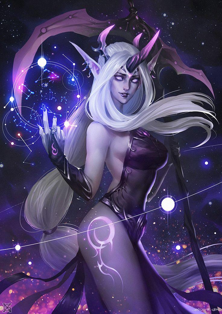 Darkness Ionia Dark Nebula——Soraka, mist XG on ArtStation at https://www.artstation.com/artwork/6P9N5