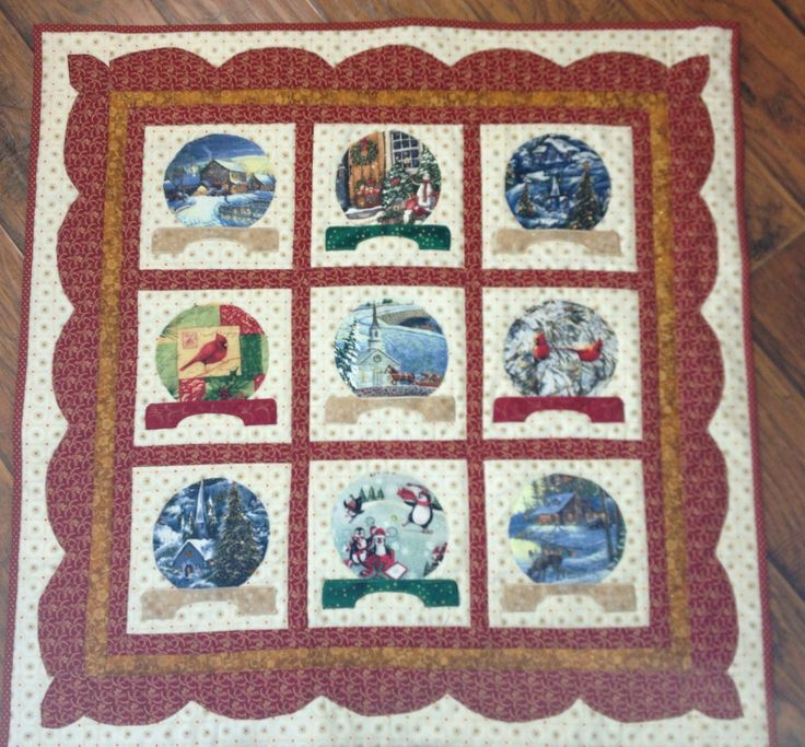 26 best snow globe quilt images on Pinterest | DIY, Artworks and ... : snow quilts - Adamdwight.com