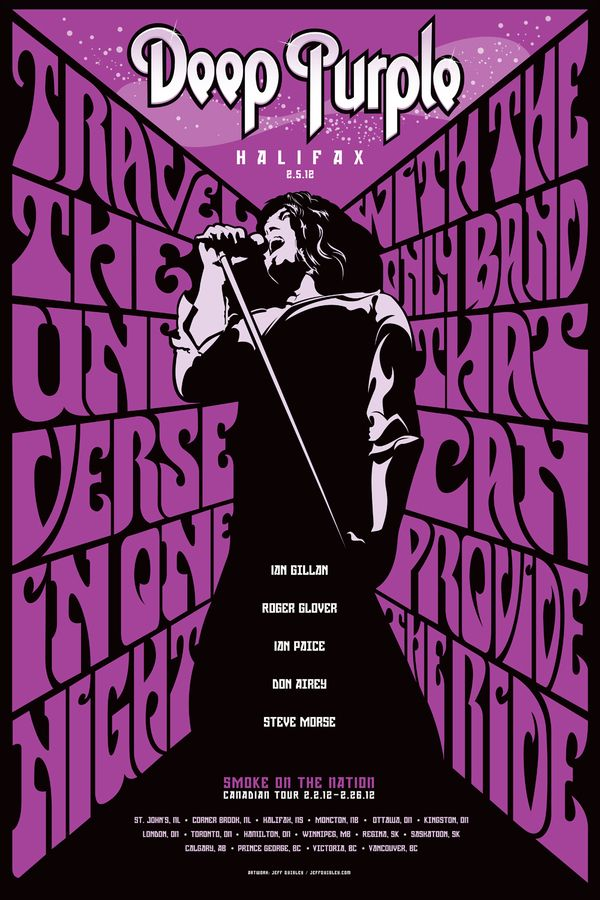 Deep Purple - Halifax Poster by Jeff Quigley, via Behance
