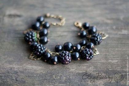 """Браслеты ручной работы. Ярмарка Мастеров - ручная работа Браслет """"Черные ягоды"""". Handmade."""