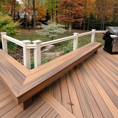 This Ground Level Deck Has A Symmetrical Look With On One