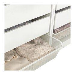 KOMPLEMENT Fijndraadmand met uittrekrail, wit - wit - IKEA