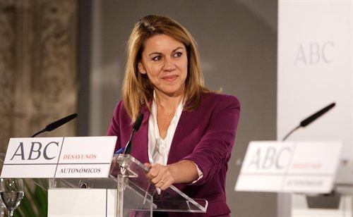 Cospedal se descarta para liderar el @PPopular en el futuro http://j.mp/Yq3nkA Cospedal desayunos ABC Toledo 28-11-2012 EuropaPress
