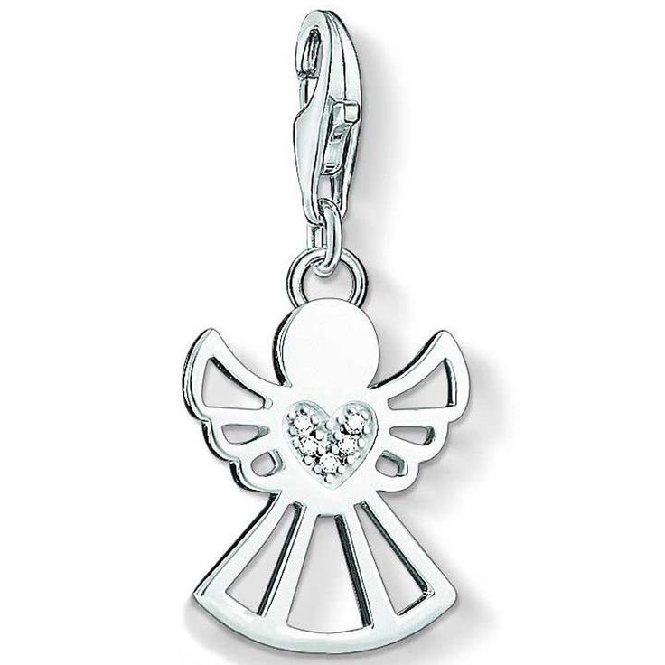 Thomas Sabo Thomas Sabo Charm pendant angel with heart white DC0029-725-14 4Sr1o