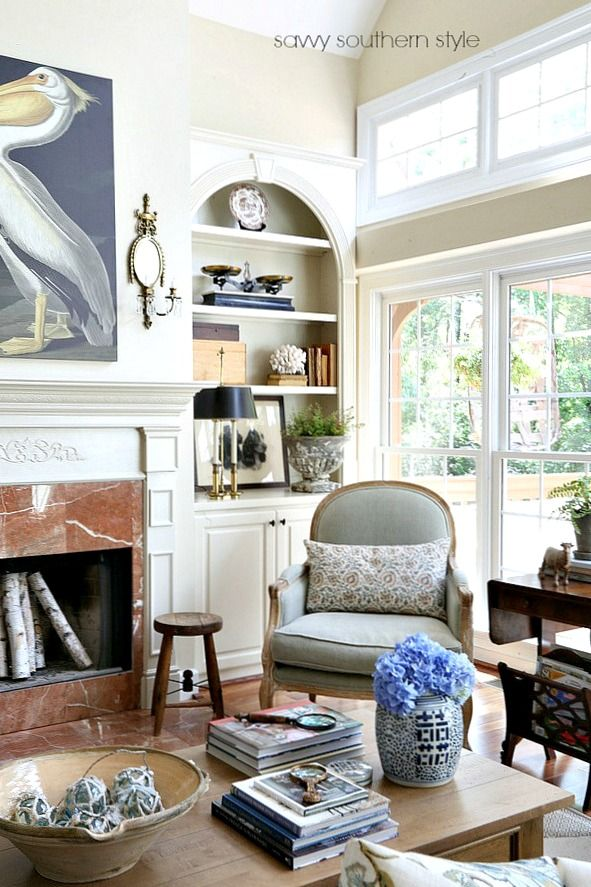 Summer Style In The Great Room Savvy Southern Style French Country Living Room Great Rooms