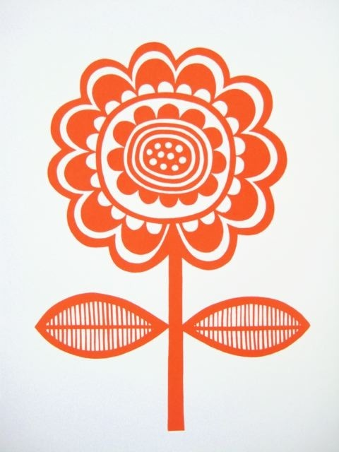 Scandinavian Flower screen Print