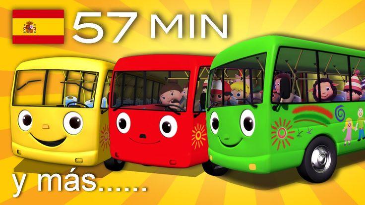 Las ruedas del autobús | Y muchas más canciones infantiles | ¡57 min de ...