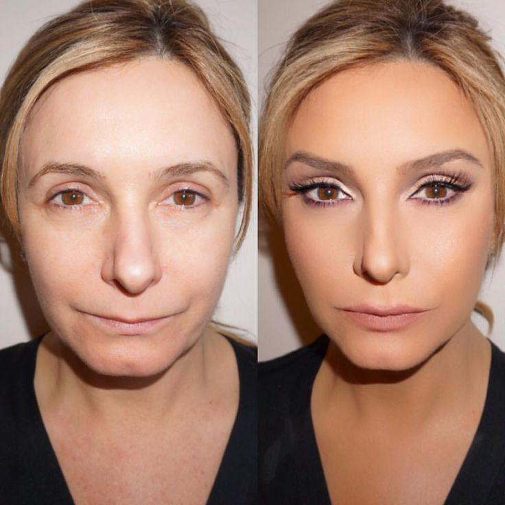 "Mario Dedivanovic on Instagram: ""One of my fave before and after. I used face tape to lift the eyes and brows up. #MakeupByMario . I really enjoy doing before/afters - wish I had more time to do them"""