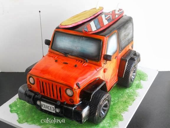 cakelava: Non-Traditional Wedding Cakes: Heather and Joe's Jeep