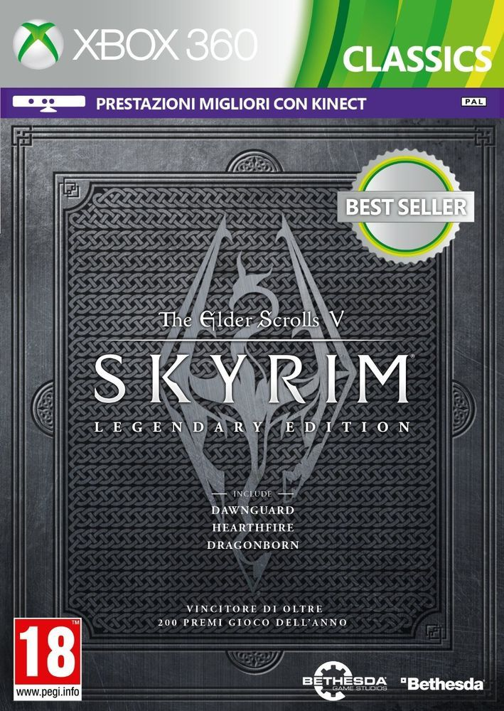 The Elder Scrolls V: Skyrim Legendary Edition  XBOX360   NUOVO !!!