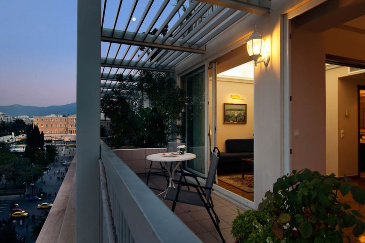 Balcony views from Electra Hotel Athens suite.