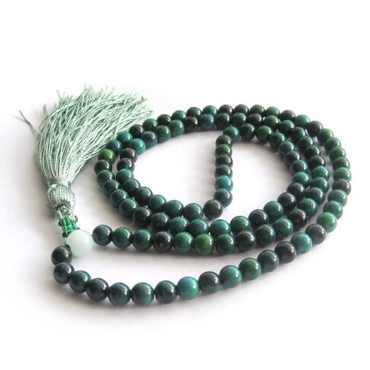 Dark Green Jade Meditation Beads