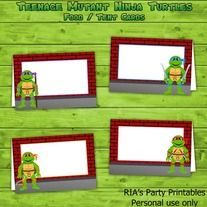 Teenage Mutant Ninja Turtles u2013 BUFFET / TENT CARDS -------  sc 1 st  Pinterest & 17 best Tic Tac Covers images on Pinterest | Tic tac Party ...