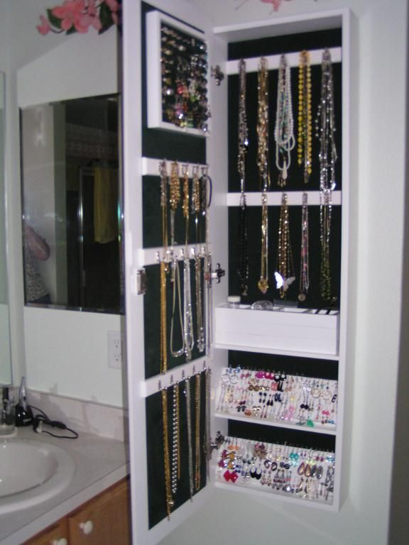 Image detail for -Wall-Mounted Jewelry Armoire Mirror Reviews    Buzzillions.com - - Wall Mounted Jewelry Storage Cymun Designs