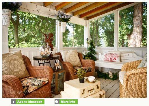 38 best screened patio images on pinterest outdoor - Decoracion de porches cerrados ...