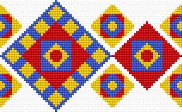 Znalezione obrazy dla zapytania haft mazurski