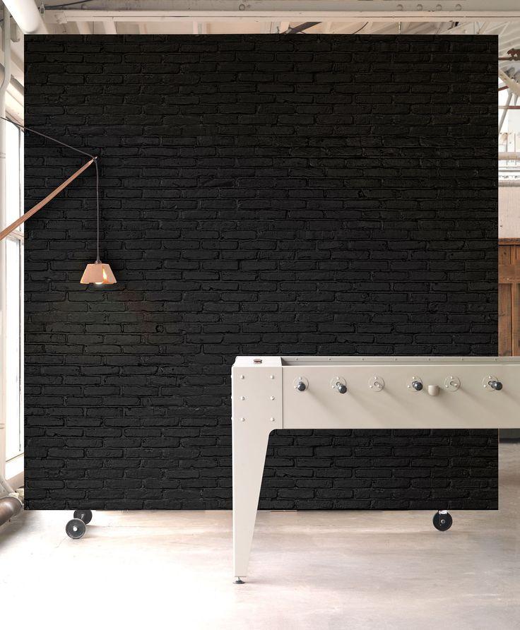 Materials by Piet Hein Eek Black Brick Wallpaper