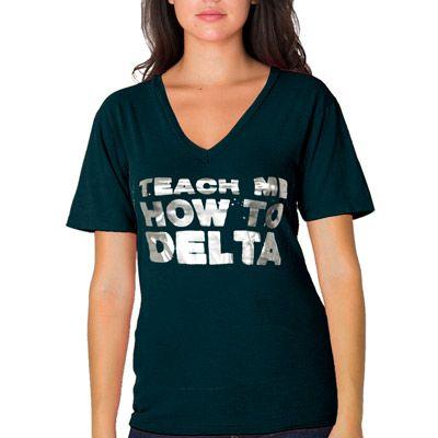 "Screen-Printed Sorority Rush Shirts ""Teach Me How"" Design #Greek #Sorority #Clothing #Recruitment #Rush #BidDay"