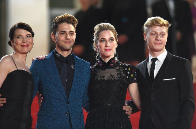 Xavier Dolan, Anne Dorval, Nancy Grant, and Antoine-Olivier Pilon at event of Mommy (2014) - Photo by Ian Gavan - © 2014 Getty Images