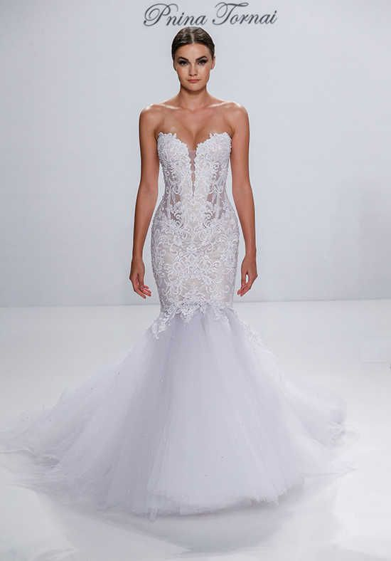 Simple Pnina Tornai for Kleinfeld Mermaid Wedding Dress