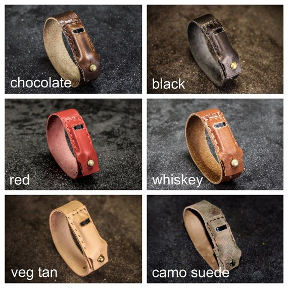 Hand Stitched Leather Fitbit Flex Band by ColebrookCompany on Etsy