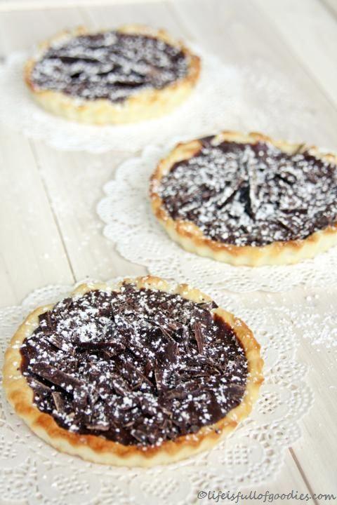 Schokoladen-Tartelettes   Gugl / Mini Cakes   Pinterest