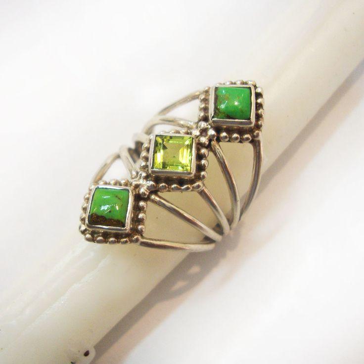 10%#OFF#925#Sterling#Silver#India#Garnet#Natural#Gemstone#Design#Ring#Women#Free#Shipping http://www.ebay.com/itm/925-Sterling-Silver-India-Green-Turquoise-Peridot-Natural-Gemstone-Design-Ring-/112528677722?ssPageName=STRK:MESE:IT