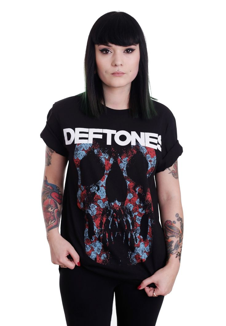 Deftones - Minerva Rose Skull - T-Shirt - Official Alternative Merchandise Online Shop - Impericon.com