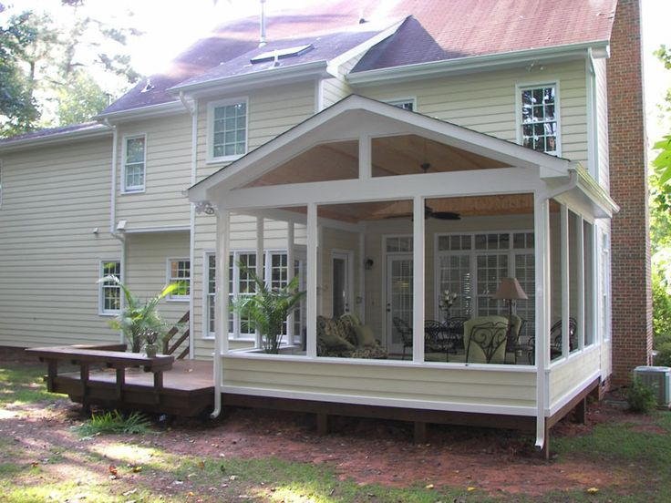 Sceen porches images screened porch and deck screened for Sunroom and patio designs