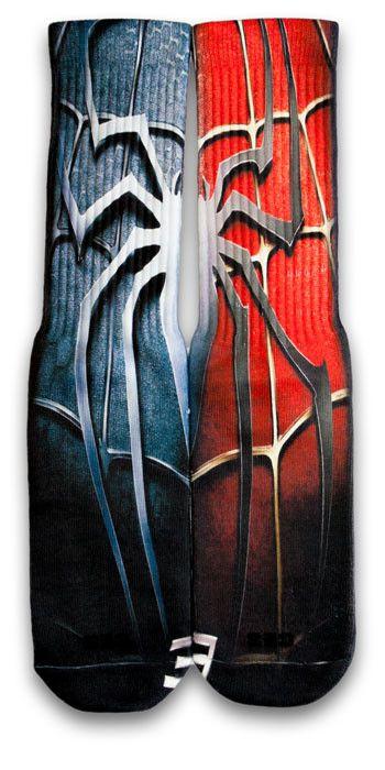 Spiderman CES Custom Socks - CustomizeEliteSocks.com