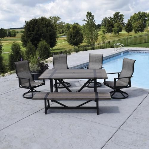 Backyard Creations Tanner Falls Collection 6 Piece Dining Patio