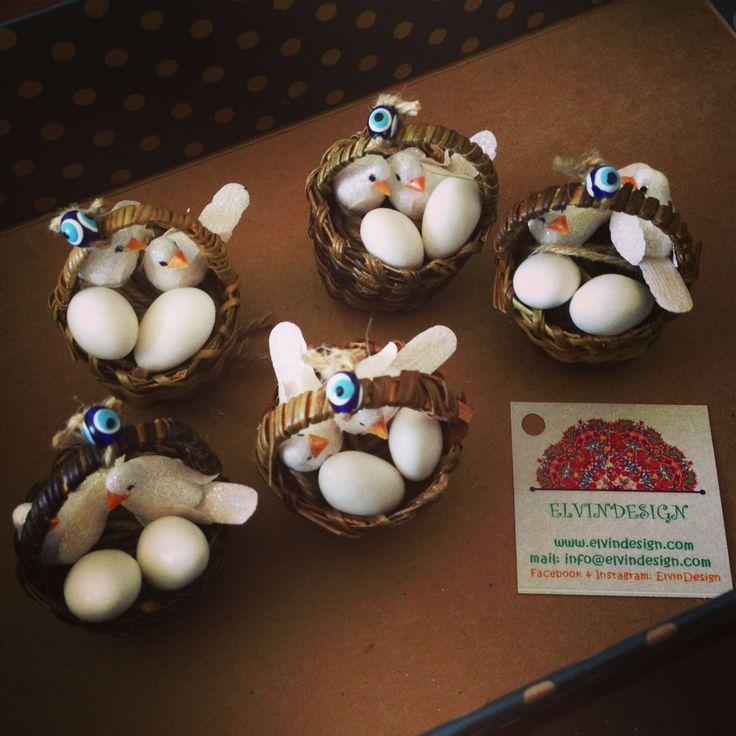 Minik hasir sepet güvercin yuvasi - #nikah #sekeri #nikah sekeri #handmade #nikahsekeri #kus #birds #weddingfavors