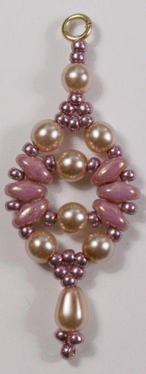 Deb Roberti's Circe Earring with Czech Glass Pearls.
