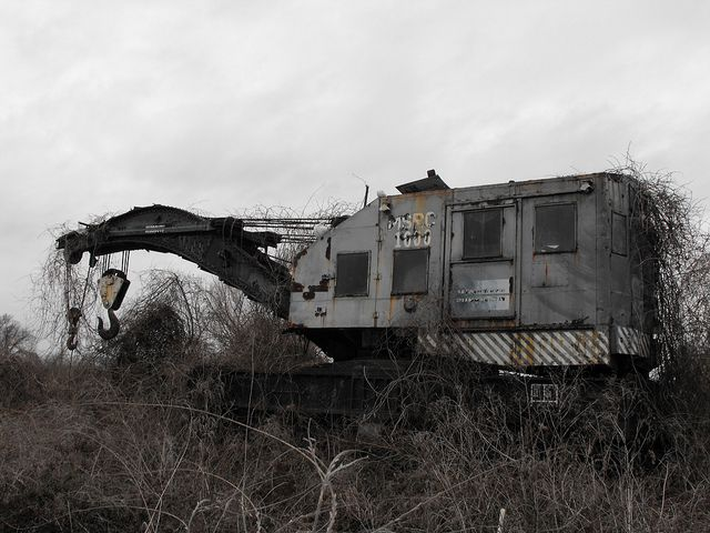 An Abandoned Equipment by the Railroad tracks, Vicksburg Ms on Flickr.
